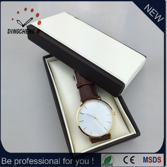 Genuine Leather Strap Fashion Watches with Leather Watch Box (DC-1212) pictures & photos