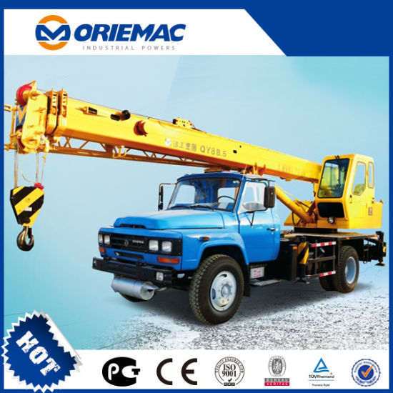 Mini 8 Ton Truck Crane with Mini Straight Arm Qy8b pictures & photos