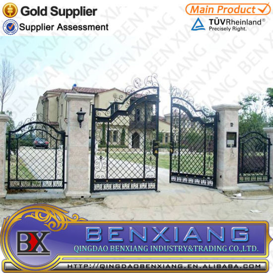 Hot Galvanized Wrought Iron Driveway Gate pictures & photos