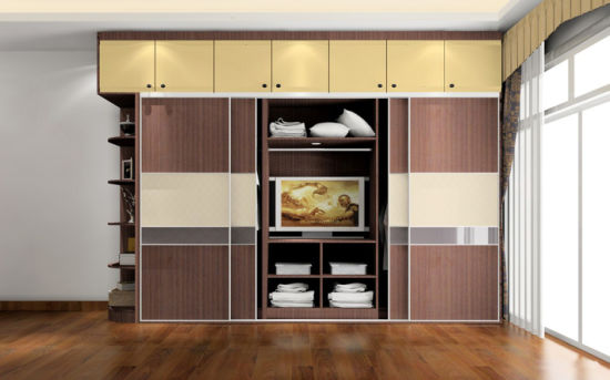 2017 Fashion Bedroom Furniture-Wardrobe Cabinet and Bed Set (zy-011)