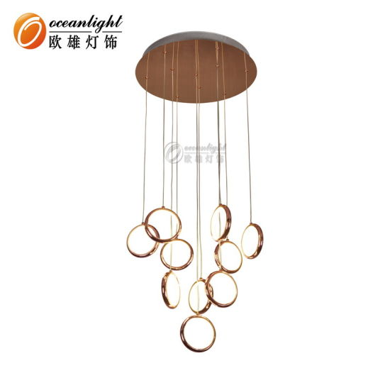 Modern Indoor LED Rose Gold LED Chandelier Pendant Light pictures & photos
