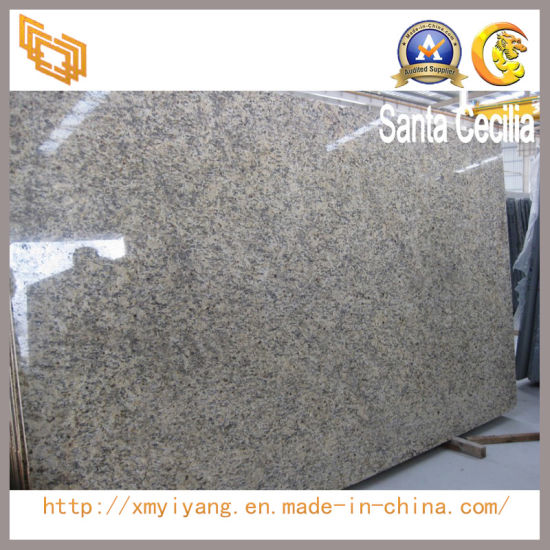 Natural Brazil Santa Cecilia Granite Slabs For Countertops Vanity Tops