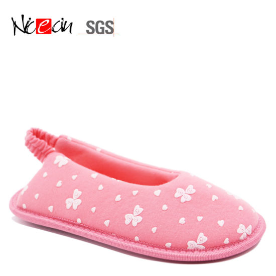 3dd6e54ff China Pink Girls Flush Fur Pattern Bedroom Slipper - China Slipper ...