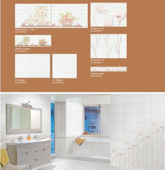 China 300X450 Bathroom Tiles Ceramic Tile Gloss Stone Mosaic Wall ...