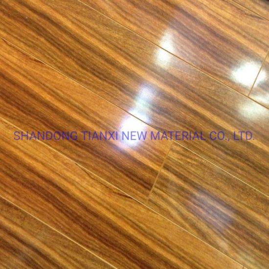 Gloss Surface Laminate Flooring Wooden Laminated Floor China Factory Export pictures & photos