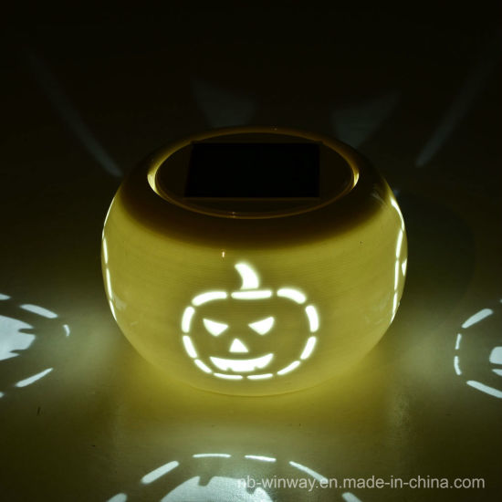 Solar Powered Hallowmas Ceramic Light