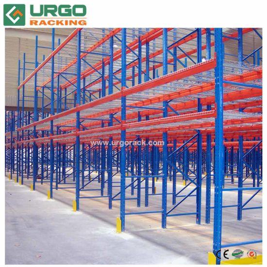 Heavy Duty Adjustable Steel Pallet Rack with Wire Decking