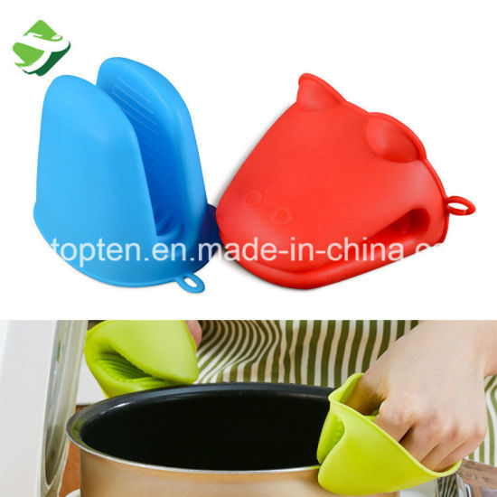Wholesale Durable Heat Resistant Kitchen Oven Baking Silicone Cooking Gloves