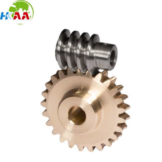 Custom Machining Steel or Brass Small Worm Gear Sets pictures & photos