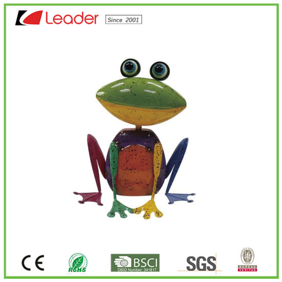 Fashionable Metal Garden Frog Statue For Home Decor And Decoration