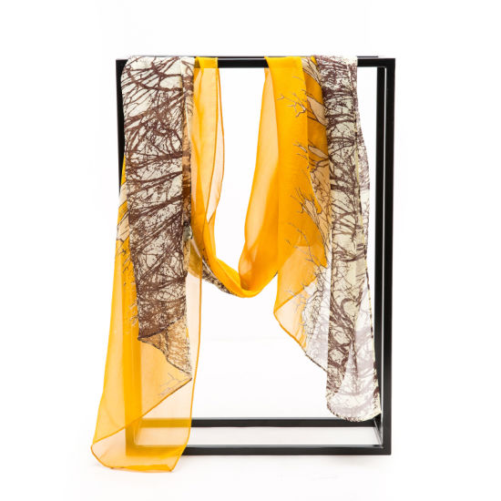 Digital Printed Summer Silk Chiffon Scarf
