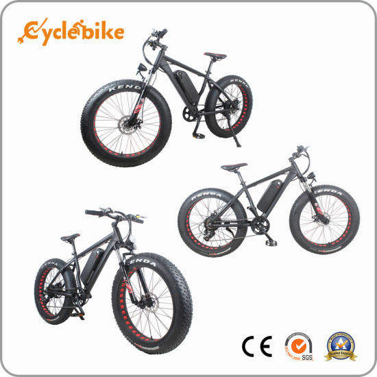 "26"" 48V 750W 4"" Wide Fat Tire Electric Bike pictures & photos"