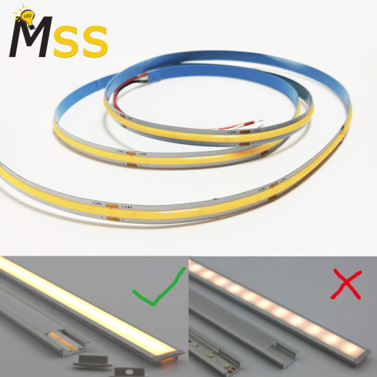 New Replace 2216 Dots Free Fob COB Flexible LED Strip with Ce RoHS