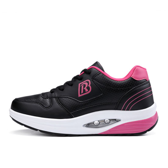 Female Air Cushion Fitness Shoes Slimming White Comfortable Running Shoes Step pictures & photos
