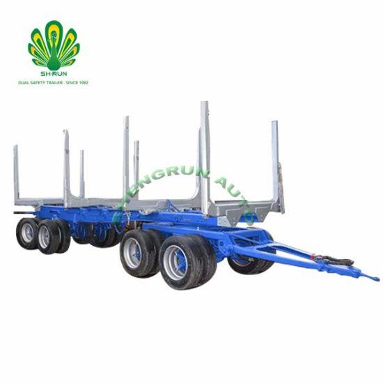 Farm Tractor Trailer Wood Log Grabbing Trailer Forestry Transportation