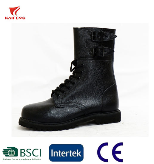 French Military and Police Standards Military Buckles Ranger Leather Boots pictures & photos