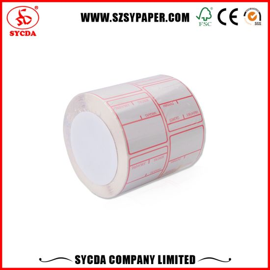 80mm High Gloss Thermal Self Adhesive Label Paper for Sale pictures & photos