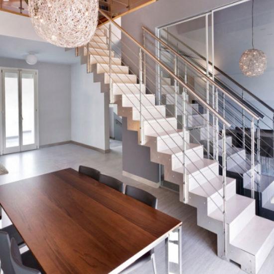 China Modern Villa Design Double Stringers Zig Zag Beam