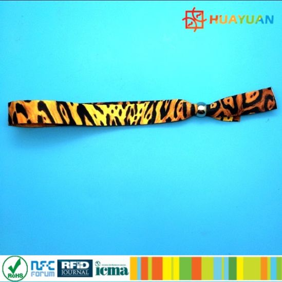13.56MHz MIFARE Plus S 2K RFID NFC woven wristband for Cashless payment pictures & photos