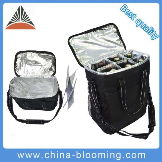 Outdoor Travel Picnic Insulated Wine Beer Carryier 6 Bottles Cooler Bag