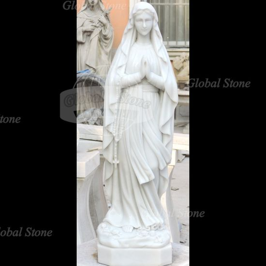 Life Size Church Religious Lady Marble Garden Sculpture pictures & photos
