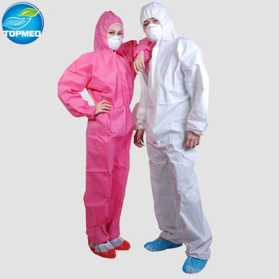 Ce Approved Disposable Coveralls Mens Lightweight Coveralls with Stickers