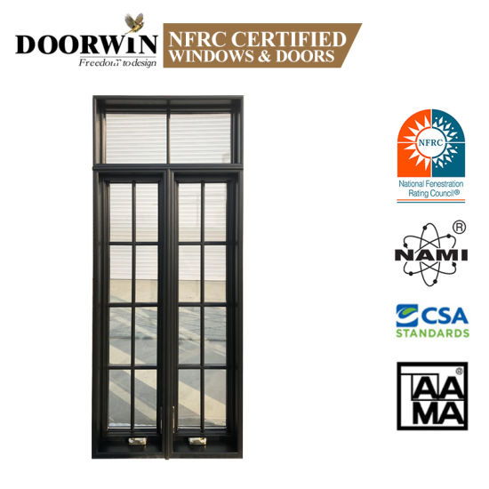 Cheap Import Casement Windows Made in China Double Glazing Swing Crank Type Window with Fixed Panel