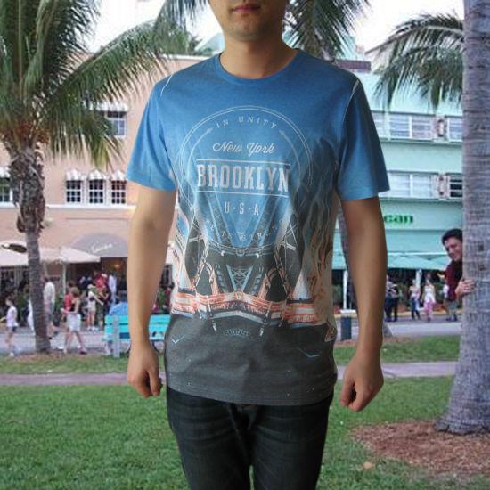 3c4f30e3 China Man′s 65% Polyester 35% Cotton Stock Printing T-Shirt - China ...
