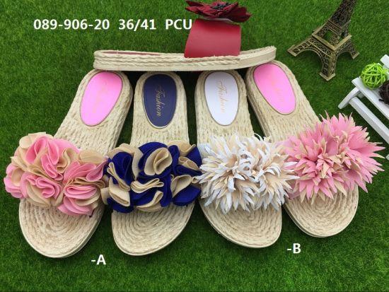 China Pcu Women Shoes New Design Lady