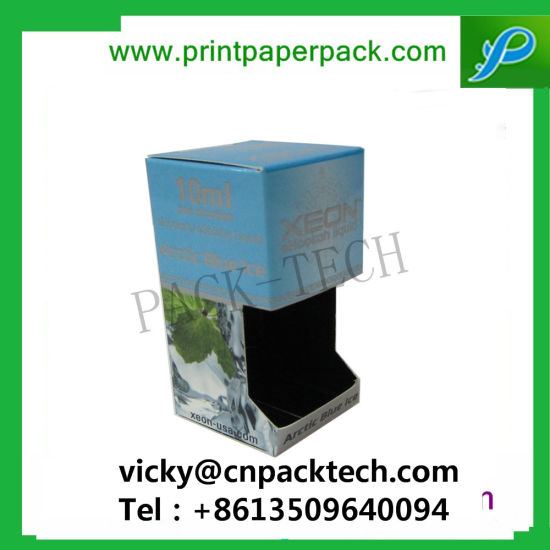 Custom High Walled Standing Pharmaceutical Boxes Cosmetic Makeup Boxes Cardboard Box Packaging with Window