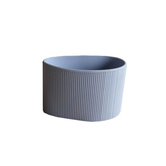 Custom Grey Color Silicone Sleeves for Coffee Cup