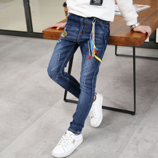 China High Quality Children Clothing Kids Denim Joggers Pants Boys