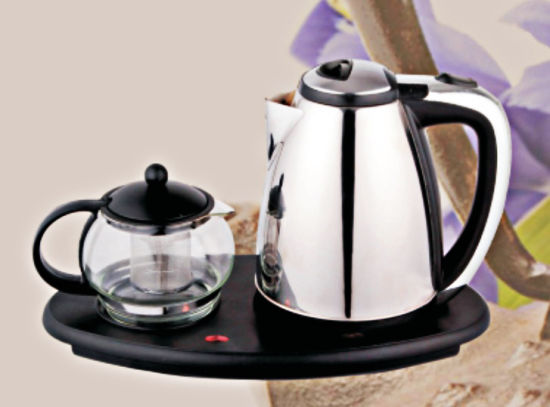 Fashion Household Appliance Electrical Kettle with Tea Pot Zy-038