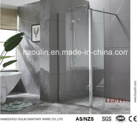 Walk in Glass Panel with Side Foldable Panel-Nano Design Glass