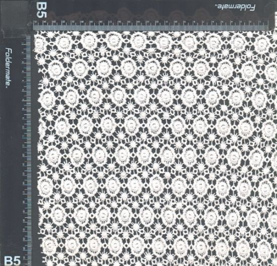100 Organic Cotton Europe Chemical Lace Embroidery Fabric