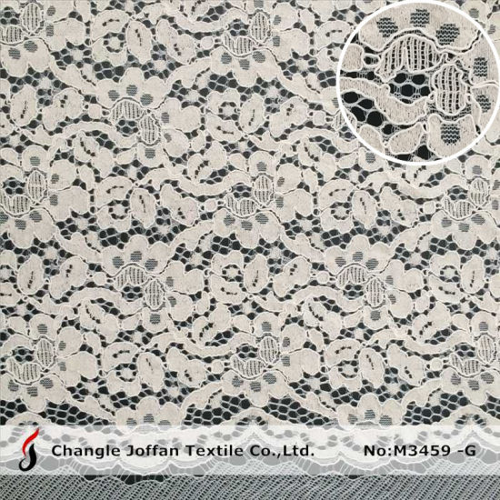 Apparel Accessory Cord Lace Fabric Cotton Embroidery Lace (M3459-G)