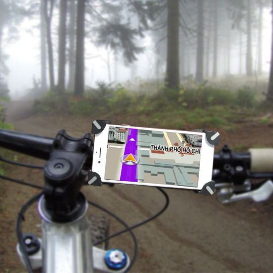 Universal Bike Bicycle Handlebar Mount Holder Cradle For Mobile Cell Phone GPS