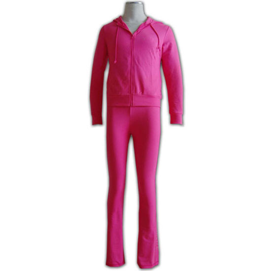 Custom Cotton Woman Tracksuit with Zip
