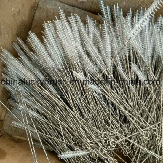 Nylon Wire Stainless Steel Pipe Brush with Ring (YY-753) pictures & photos