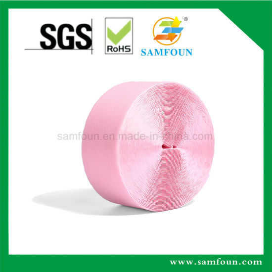 2018 New Product Soft High Quality Pink Unbrushed Hook and Loop