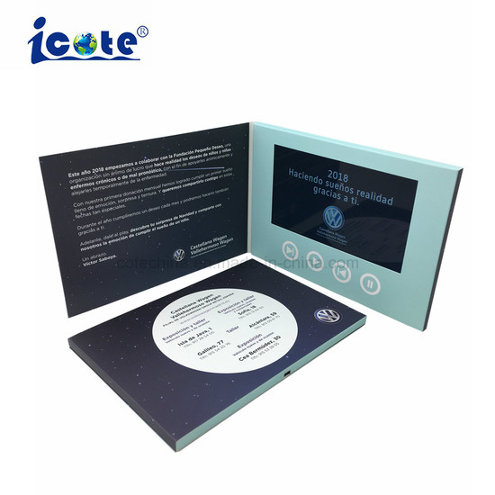 7 Inch LCD Screen Video Brochure/Advertising Business Video Mailer Card