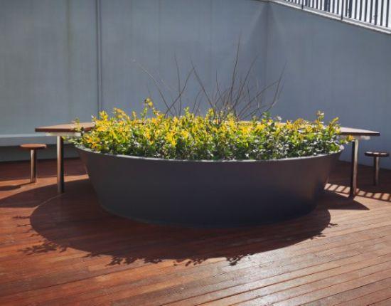 Yijiao Customize Large Size Stainless Steel Metal Flower Terrace