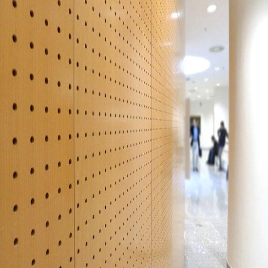 Waterproof Perforated Aluminum Panels with Wood Grain Surface for Interior Wall