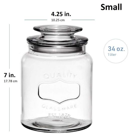 Storage Jars With Clear Gl Lid