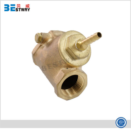 Brass Swing Check Ball Valve with with Y-Strainer Suitable for Hose Pipe pictures & photos