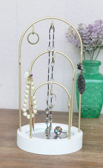 Wooden Base Jewellry with Mirror and Hook 12.3X12.3X23.5cm Wall Decor, Home Decoration, Home Decor Craft, Home Decor