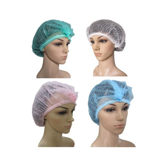 Disposable Non-Woven Round/Bouffant/Mob/Clip Cap for Food Industry