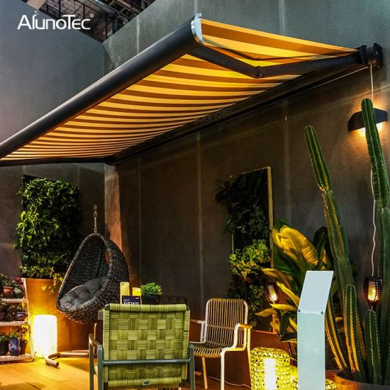 Outdoor Full Cassette Balcony Awnings Folding Arm Awning for Terrace