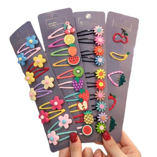 Girls Cute Cartoon Animals Fruit 5 Cm Hairpins Children Lovely Hair Clips Barrettes Headband Kids Hair Accessories