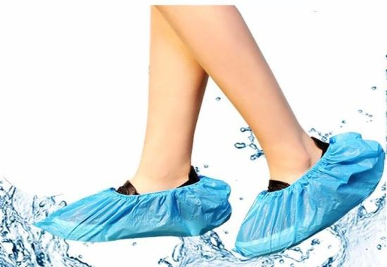 Disposable Factory Plastic Waterproof PE CPE Shoe Cover Non-Skid Dust Isolation Boot Cover Breathable Protective Shoe Cover for Rain Laboratory